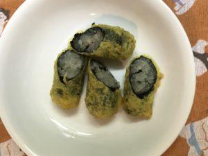 のり巻き天ぷら 焼き上がり